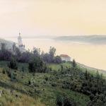 Левитан ИИ  Вечер Золотой Плес 1889  хм 84.2х142  ГТГ