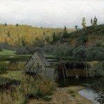 Левитан ИИ  Осень Мельница Плес 1888  хм 41х65  ГТГ