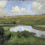 Левитан ИИ  Река  1898-99  хм 42х64 Рязанский обл х м