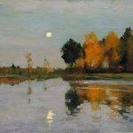 Левитан ИИ  Сумерки Луна Эск олноименн картины 1899 км 26х35  ГРМ