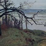 Левитан ИИ  Волга с высокго берега 1887  хм 20х34.5  Тверская областная картинная галерея