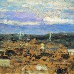 Левитан ИИ  Пейзаж с монастрем 1890  хм  Частное собрание