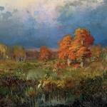 Болото в лесу Осень 1871-1873 хм 81х111.5 ГРМ