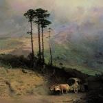 В Крымских горах 1873 хм 116х90 ГТГ