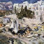 Коровин Алупка 1912 хм Омский обл музей изобразительных искусств им МА Врубеля