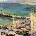 Коровин Пристань в Крыму 1913 хм 67.5х84.5