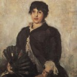 Коровин Портрет ОН Алябьевой 1889 хм 106х87.3 ГТГ
