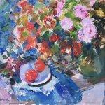 Коровин Астры и помидоры 1919 хм 71х82 Севастопольский художественный музей