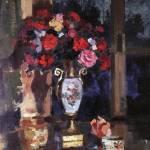 Коровин Букет бумажных роз 1912 хм Саратовский государственный художественный музей имени АН Радищева