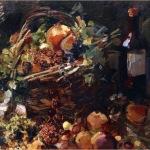 Коровин Натюрморт с фруктами и буттылкой