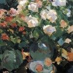 Коровин Розы в голубых кувшинах 1917 хм 89х67.5 ГТГ