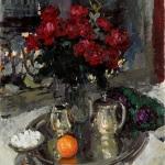 Коровин Розы и ыиалки 1912 хм 91.5х73.5 ГТГ