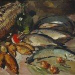 Коровин Рыбы 1916 хм 85.5х125.7 ГТГ