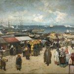Коровин Базар У пристани в Архангельске (после реставрации) 1896