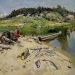 Коровин Вид на Нерли Рыболов 1913 хм Вязниковский историко-художественный музей
