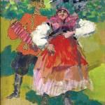 Коровин Деревенские гуляния 1920е