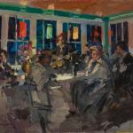 Коровин За чайным столом 1888 хкм 48.5х60.5 Государственный музей-усадьба ВД Поленова (2)