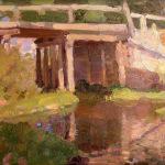 Коровин Лето Омут у моста 1902