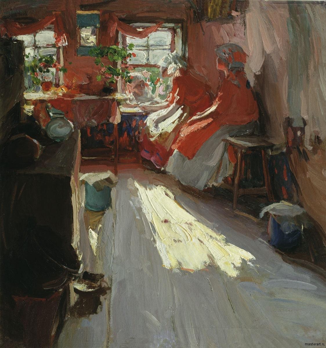 В весенний праздник 1913 хм 100х94 Козьмодемьянский художественно-исторический музей им АВ Григорьева