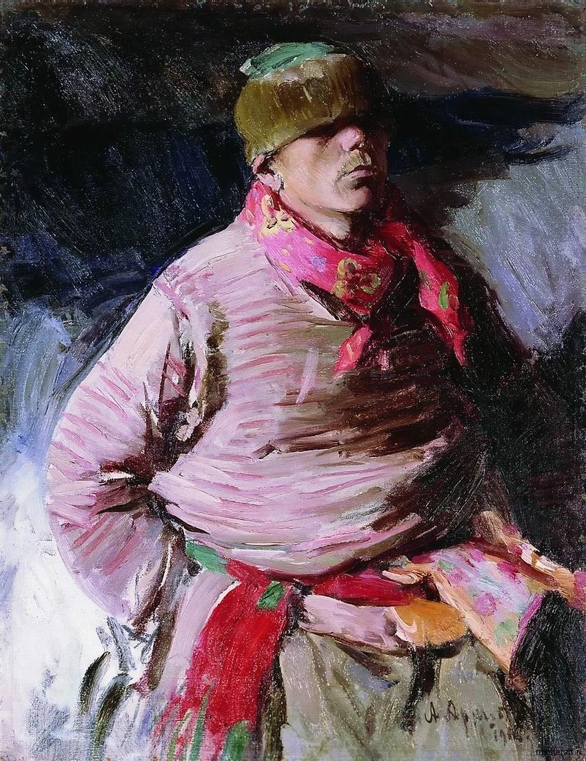 Рязанский пригородный ямщик 1916 хм 97х75 Вятский художественный музей им ВМ и АМ Васнецовых