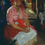 Баба в розовом 1919 хм 107х84 Екатеринбургский музей изобразительных искусств