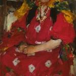 Девушка в малиновом хм 122х76 Государственный центральный музей музыкальной культуры им МИ Глинки