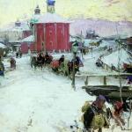 Зима 1909 хм 86х86 Воронежский областной художественный музей