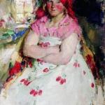 Рязанская пригородная девица 1928 хм 115х90 Рязанский государственный областной художественный музей