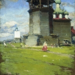 Церковь 1902 хм 73.5х55.5 ГИМ Москва