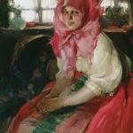 Молодая крестьянка (Баба) 1910е хм 108.5х86 Пермская государственная художественная галерея