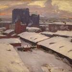 Московские дворы 1913 хм 92х98 Государственный музей изобразительныхискусств Республики Татарстан