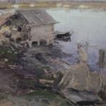 На берегу реки хм 44.5х63.5 Севастопольский художественный музей