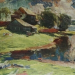 После дождя Пейзаж хм 77х102 Ростовский музей изобразительных искусств