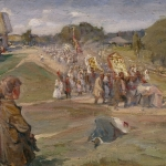 Просят дождя Эскиз 1890е хм 33х52 Иркутский областной художественный музей