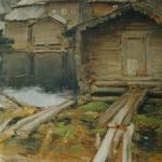 Северная деревня 1902 хм 87.6х67.6 ГТГ