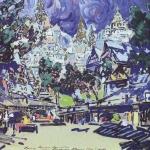 Коровин В древнем граде 1910 к смеш техника Нижегородский худож музей