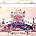 Коровин Кустарная улица Эскиз павильона к выставке 1900 года в Париже 1900 б акв