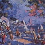 Коровин Невольничий базар на Востоке Эскиз декорации к балету А Адана и Ц Пуни Корсар 1912