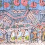 Коровин Палата царева дворца в Тмутаракани 1912 к смеш техника