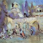 Коровин Танец Эскиз декорации к балету Пуни Конец-Горбунок 1912