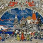 Коровин Торговая площадь в Град-столице 1901 Эскиз декораций к балету Ц Пуни Конек-Горбунок
