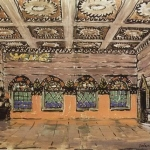 Коровин Трапезная палата в доме Ивана Хованскаго 1910 к смеш техника