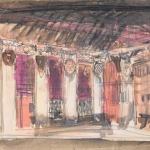 Коровин Эскиз декорации 1910е 15х19