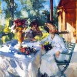 Коровин Две дамы на террасе 1911 хм 88х66 Гос художественный музей Алтайского края