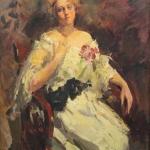 Коровин Портрет НИ Комаровской 1922 хм Национальный художеств музей Республики Беларусь