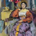 Коровин Портрет Сафоновой 1911