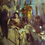 Коровин Портрет женщины 1912 хм
