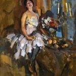 Коровин Портрет танцовщицы 1917