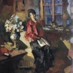Коровин Актриса Н Комаровская 1919
