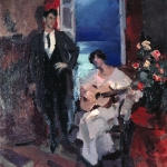 Коровин Вечер 1917 хм Тверская областная картинная галерея